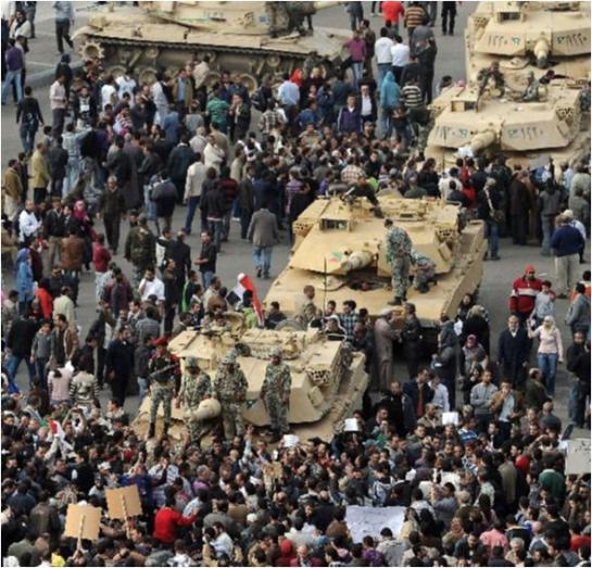 Manifestacion en El Cairo